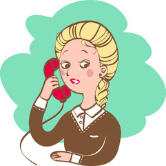 woman with a telephone