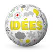 "Globe ""IDEES"" (idées solutions créativité innovation équipe)"