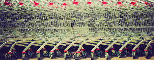Shopping carts retro looking