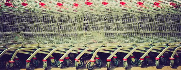 Shopping carts retro looking