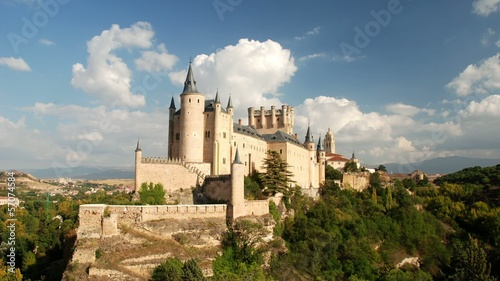 Segovia Castle (Alcazar of Segovia). Castile and Leon, Spain