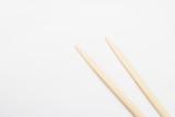 Chopsticks on grey background