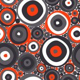 Abstract vector pattern with circles