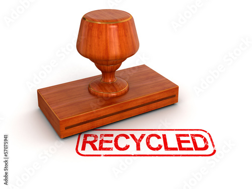 Rubber Stamp Recycled (clipping path included)