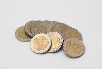 Money monet on white background