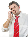Young Attractive Man talking on the phone