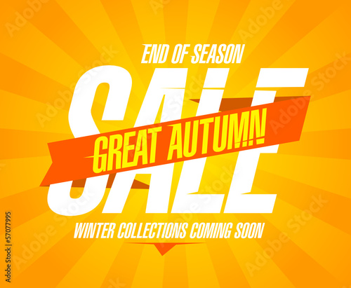 Great autumn sale design in retro style.