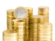 gestapelte Euromünzen