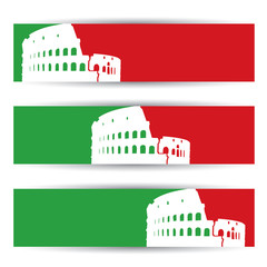 Coliseum banners