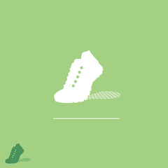 Running sneakers label