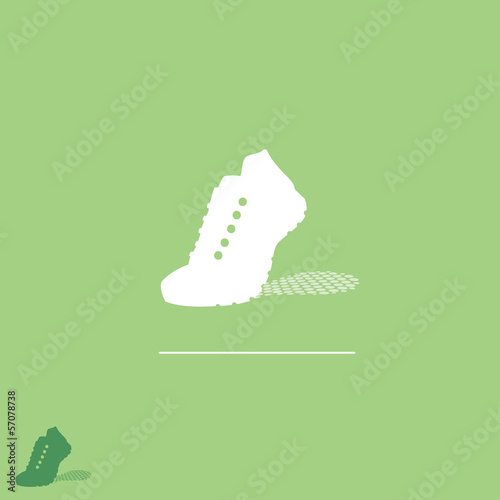 Running sneakers label