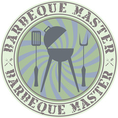 Vector vintage style barbeque master badge