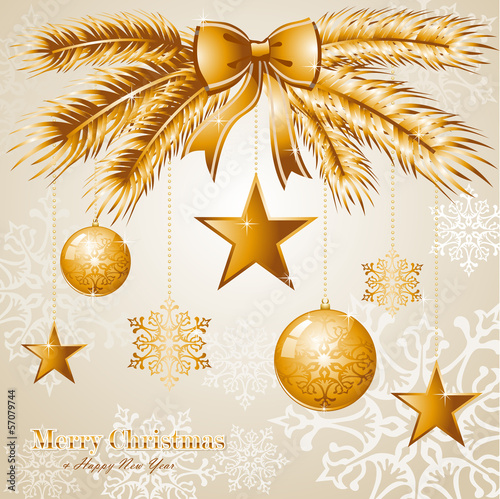 Luxury Merry Christmas background EPS10 vector file.