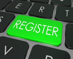 Register Computer Keyboard Key Enroll Enter Store Site