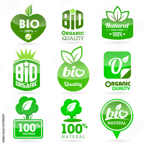 Bio - Eco - Natural icon set