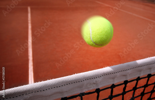 .Tennis balls on Court