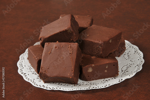 Rich sliced fudge