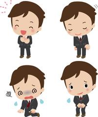 ビジネスマンのいろいろな表情