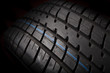 Tire isolated on black background