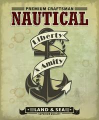 Vintage Anchor poster design