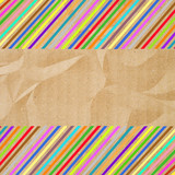 Colorful crinkle paper2 poster