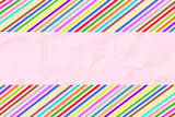 Colorful crinkle paper4 poster