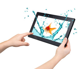 Tablet interactivity and high performance concept