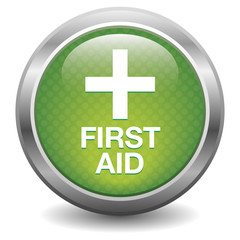 Green first aid button