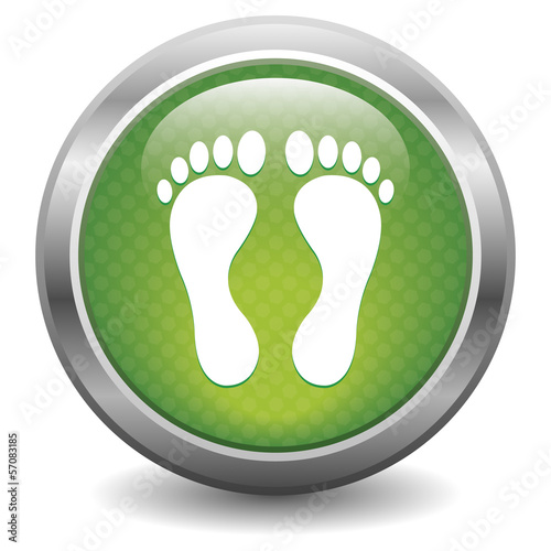 Green footprint button