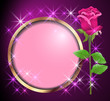 Round frame and rose