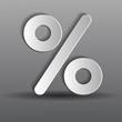 бумажный процент на сером фоне