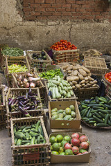 Vegetable street small market