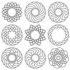 Vector set of elements for arabic design