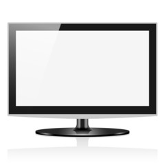 Vector widescreen lcd tv monitor isolated on white