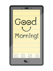 Good morning on smart phone.