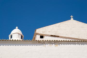 Detalle de la iglesia de Ferreries. Menorca.