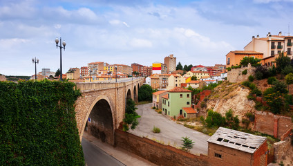 Road and residence district in Teruel