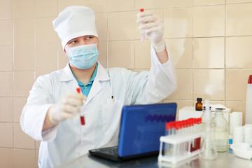 scientific worker  in laboratory