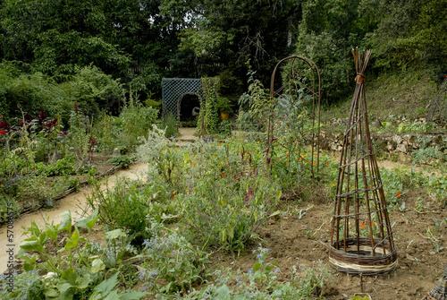potager, fleurs, Jardin de Cadiot, Carlux, 24, Dordogne,