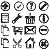 Set of grunge icons