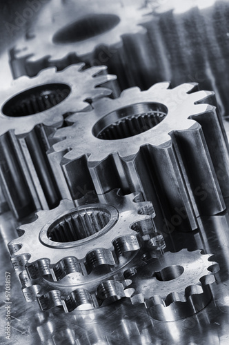 power gears and cogwheels of titanium