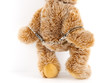 Teddybär mit Handschellen