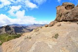 Wide angle shot of Gran Canaria mountains.