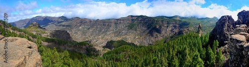 Panoramic shot of Gran Canaria mountains.