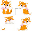 cat cartoon with different poses