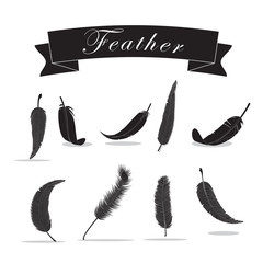 Feather Icons Set - Isolated On White Background