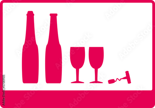 background with wine bottle and wineglass