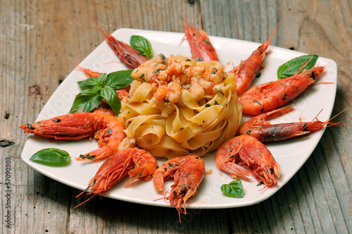 fettuccine with shrimp