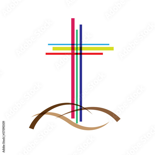 Vector logo crucifix