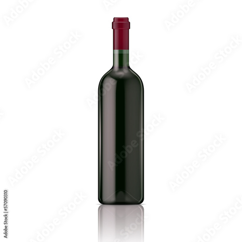 Red wine bottle.